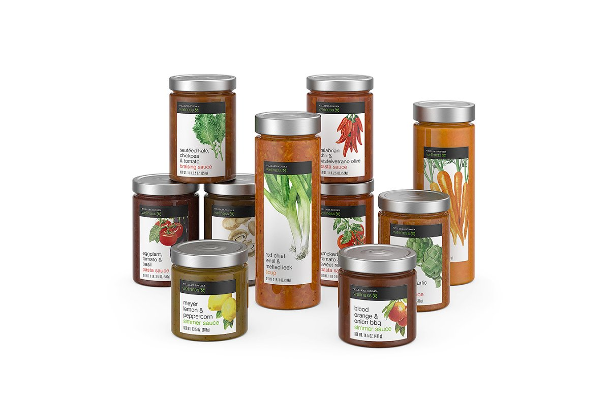 Sauce jars 3d model