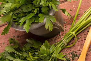 fresh and dried parsley