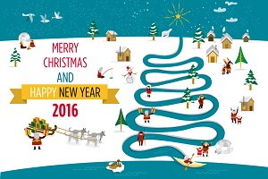 2016 Christmas Card with Eskimos