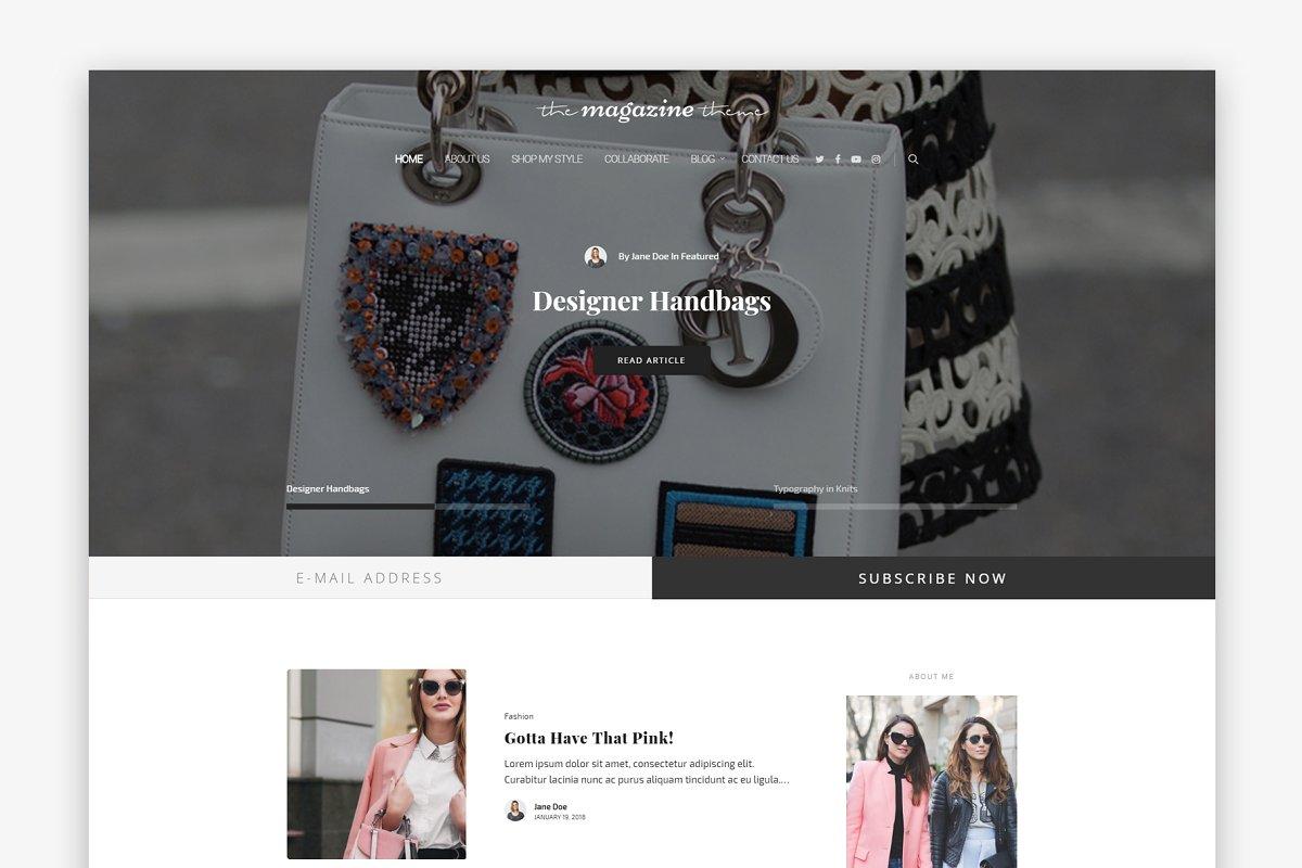 The Magazine - Fashion WP Blog Theme