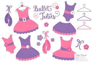 Crayon Box Girl Ballet Tutus Clipart