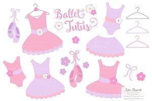 Fresh Girl Ballet Tutus Clipart