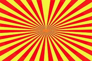 Geometric lines of yellow and red. b
