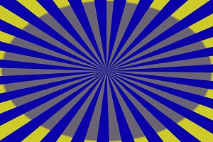 Geometric lines of blue anda yellow.