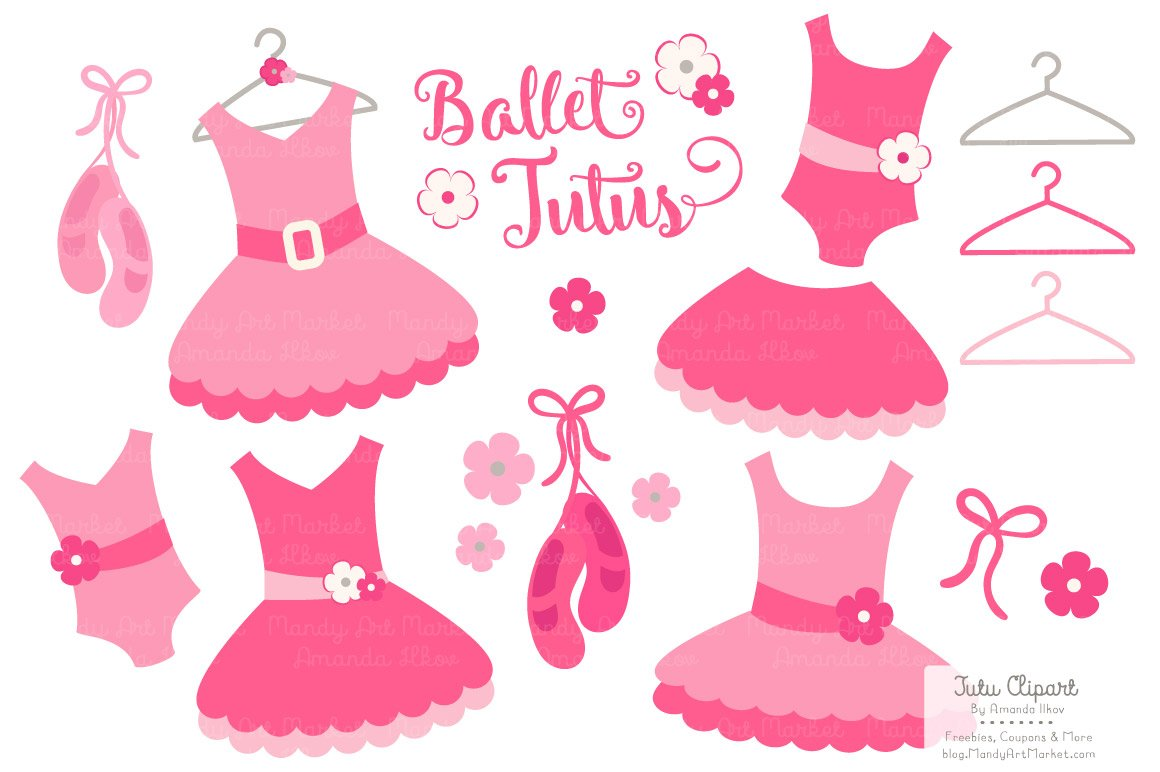 pin the tutu on the ballerina template - hot pink ballet tutus clipart illustrations creative