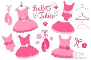 Hot Pink Ballet Tutus Clipart