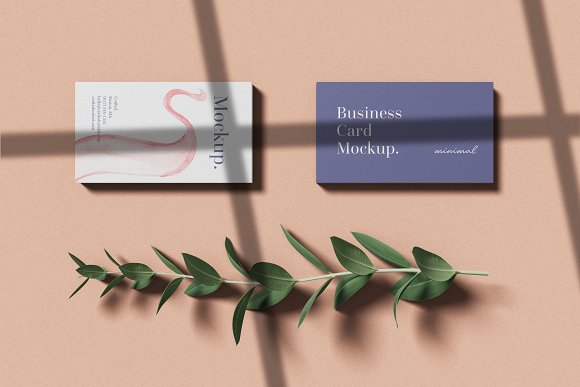 Minimal Business Card Mockup in Branding Mockups - product preview 1