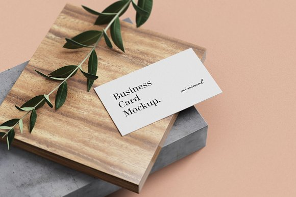 Minimal Business Card Mockup in Branding Mockups - product preview 2