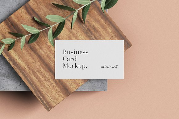 Minimal Business Card Mockup in Branding Mockups - product preview 3