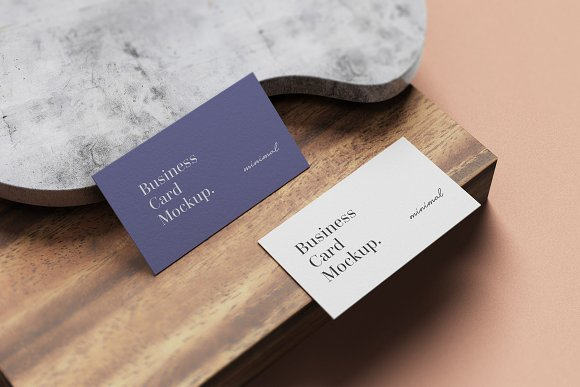 Minimal Business Card Mockup in Branding Mockups - product preview 4