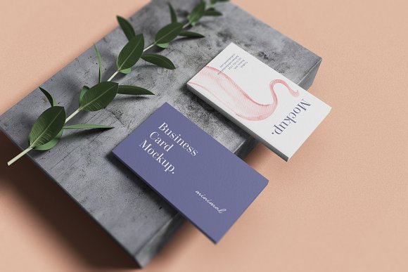 Minimal Business Card Mockup in Branding Mockups - product preview 6