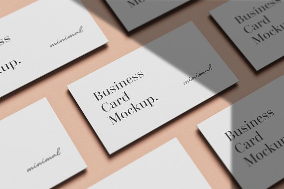 Minimal Business Card Mockup in Branding Mockups - product preview 7