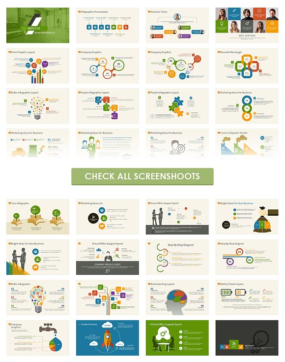 Infographic Powerpoint Template Presentation Templates Creative