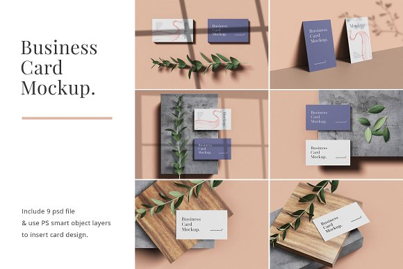 Minimal Business Card Mockup in Branding Mockups - product preview 9