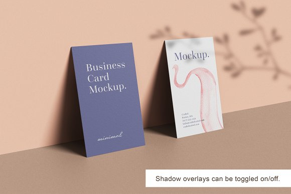 Minimal Business Card Mockup in Branding Mockups - product preview 10