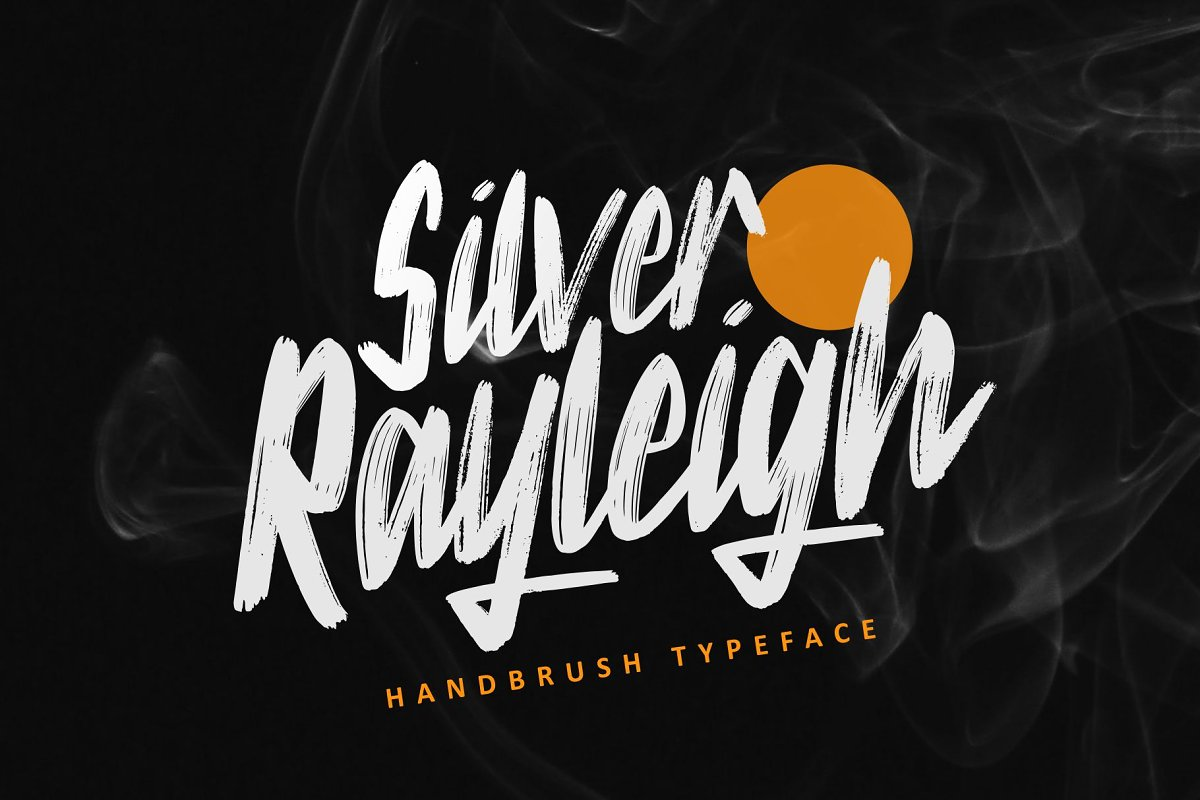Silver Rayleigh - HandBrush Typeface