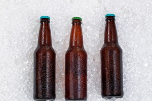 Beer being Chilled on Ice