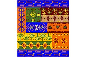 Ethnic patterns and ornaments