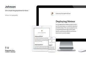 Johnson: Ultra-Clean Blog Theme