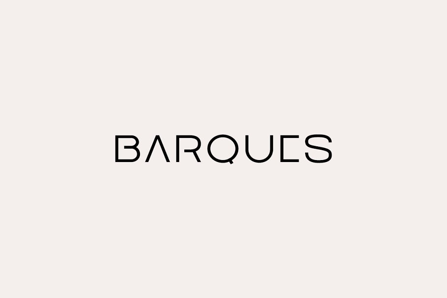 BARQUES - Display / Logo Typeface