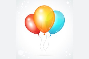 Color glossy multicolored balloons.