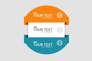 Round Infographics. Vector
