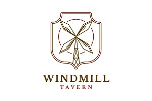 Windmill Tavern Logo Template