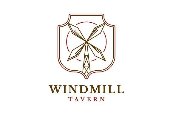 windmill tavern logo template logo templates creative market