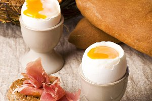 Breakfast soft-boiled eggs