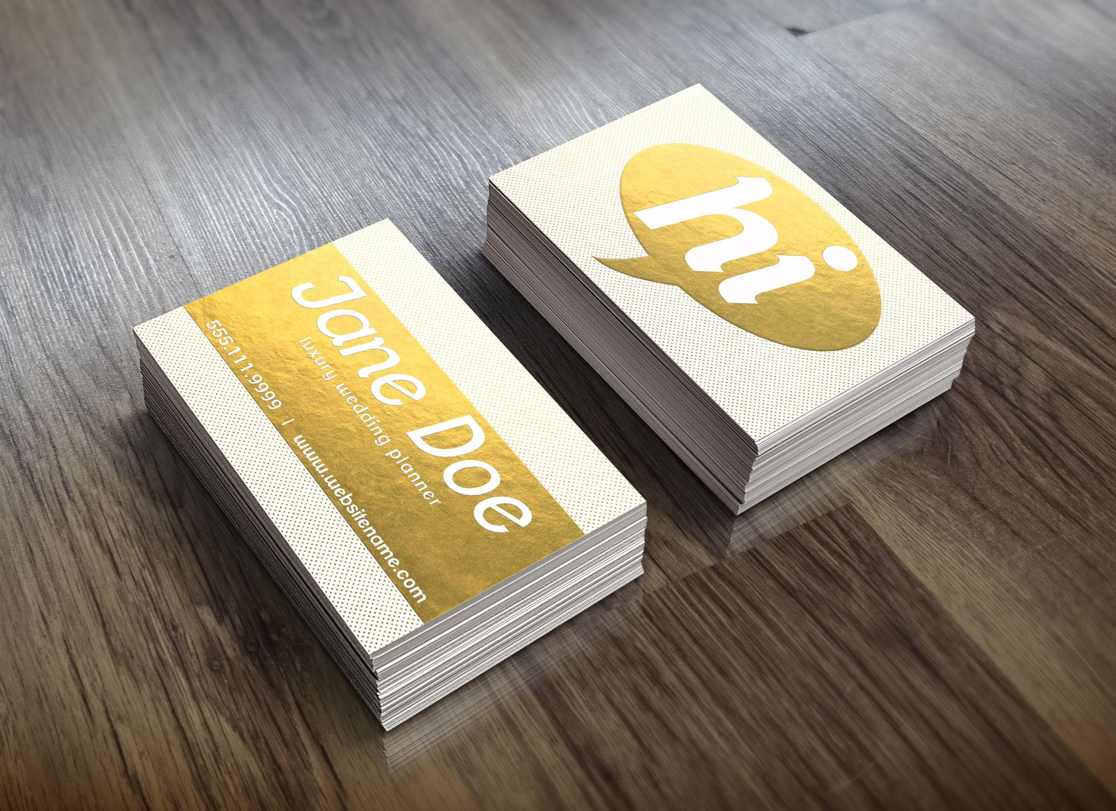Gold Foil Dotted Business Card ~ Business Card Templates ...