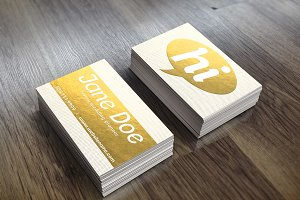 Gold Foil Dotted Business Card