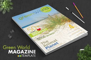 Green World Magazine Template