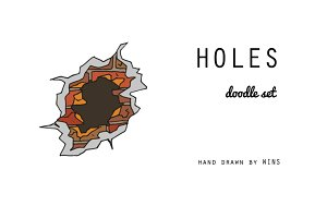 Holes, indentations, cracks