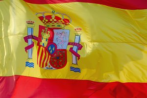Spain flag background