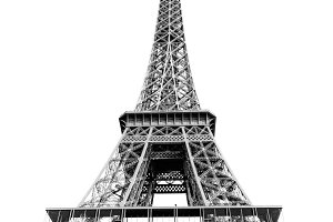 Eiffel tower gray