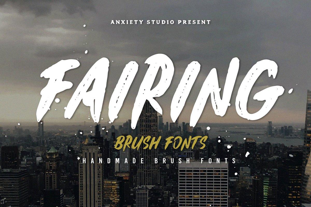 Fairing Brush Fonts 30% OFF