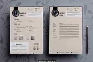 elegant resume cv sketch support resume templates creative market