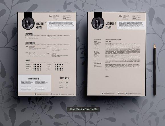 modern elegant cv template resume templates creative market