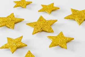 Xmas background golden stars