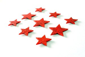 christmas background red stars