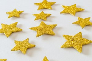 Shiny golden stars