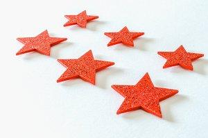 Glitter red stars
