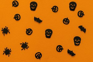 Halloween pattern orange
