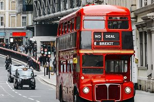 No deal Brexit Routemaster Bus
