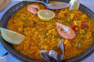 Typical spanish paella