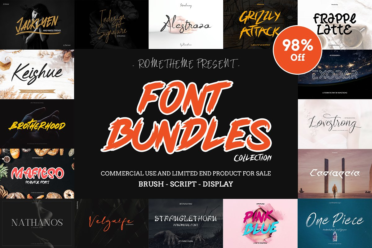 FONT BUNDLE - 98% OFF! ~ Fonts ~ Creative Market