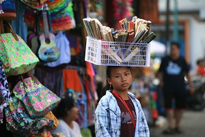 Little girl in the market of Ubud