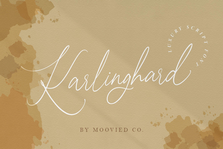 Karlinghard Luxury Signature Font ~ Script Fonts ~ Creative