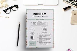 Elegant , floral CV template