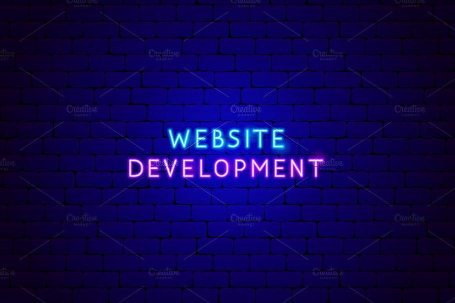 Web Development SEO Neon